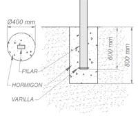 invernadero multicapilla romanico cimentacion