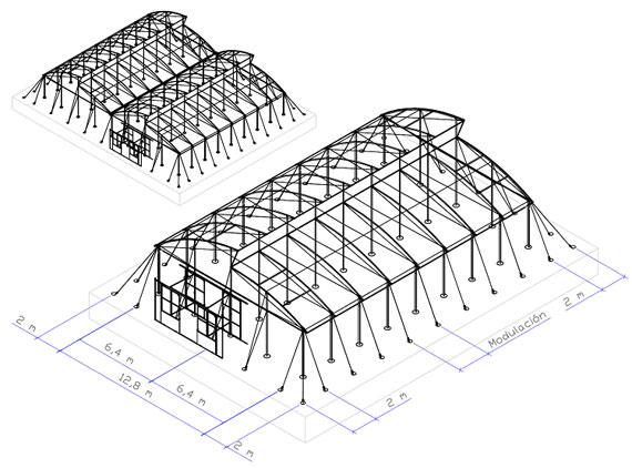 invernadero tropical estructura